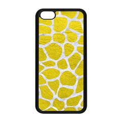 Skin1 White Marble & Yellow Leather (r) Apple Iphone 5c Seamless Case (black)