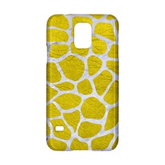 Skin1 White Marble & Yellow Leather (r) Samsung Galaxy S5 Hardshell Case  by trendistuff