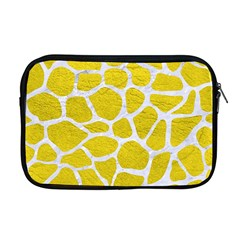 Skin1 White Marble & Yellow Leather (r) Apple Macbook Pro 17  Zipper Case by trendistuff