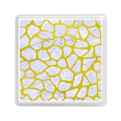 Skin1 White Marble & Yellow Leather Memory Card Reader (square)  by trendistuff