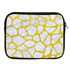 Skin1 White Marble & Yellow Leather Apple Ipad 2/3/4 Zipper Cases by trendistuff
