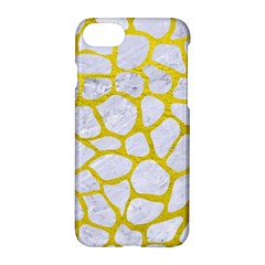 Skin1 White Marble & Yellow Leather Apple Iphone 7 Hardshell Case by trendistuff
