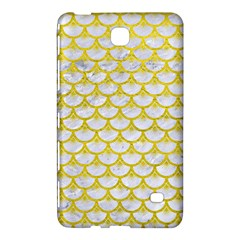 Scales3 White Marble & Yellow Leather (r) Samsung Galaxy Tab 4 (8 ) Hardshell Case  by trendistuff