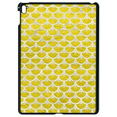 Scales3 White Marble & Yellow Leather Apple Ipad Pro 9 7   Black Seamless Case by trendistuff