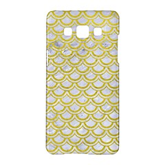 Scales2 White Marble & Yellow Leather (r) Samsung Galaxy A5 Hardshell Case  by trendistuff