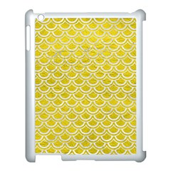 Scales2 White Marble & Yellow Leather Apple Ipad 3/4 Case (white) by trendistuff