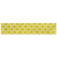 Scales2 White Marble & Yellow Leather Small Flano Scarf by trendistuff