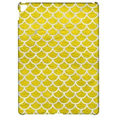 Scales1 White Marble & Yellow Leather Apple Ipad Pro 12 9   Hardshell Case by trendistuff