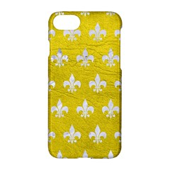 Royal1 White Marble & Yellow Leather (r) Apple Iphone 7 Hardshell Case by trendistuff