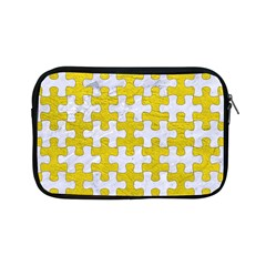 Puzzle1 White Marble & Yellow Leather Apple Ipad Mini Zipper Cases by trendistuff