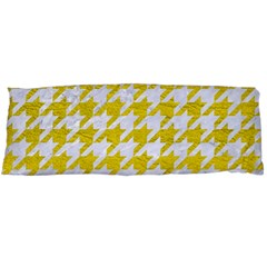 Houndstooth1 White Marble & Yellow Leather Body Pillow Case Dakimakura (two Sides) by trendistuff