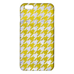 Houndstooth1 White Marble & Yellow Leather Iphone 6 Plus/6s Plus Tpu Case by trendistuff