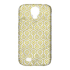 Hexagon1 White Marble & Yellow Leather (r) Samsung Galaxy S4 Classic Hardshell Case (pc+silicone) by trendistuff