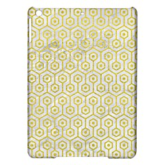 Hexagon1 White Marble & Yellow Leather (r) Ipad Air Hardshell Cases by trendistuff