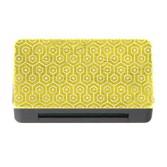 Hexagon1 White Marble & Yellow Leather Memory Card Reader With Cf by trendistuff