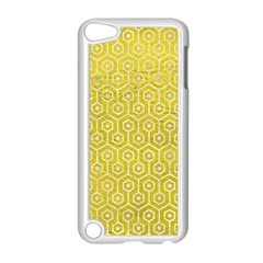 Hexagon1 White Marble & Yellow Leather Apple Ipod Touch 5 Case (white) by trendistuff