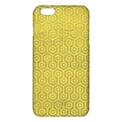 Hexagon1 White Marble & Yellow Leather Iphone 6 Plus/6s Plus Tpu Case by trendistuff