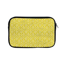 Hexagon1 White Marble & Yellow Leather Apple Macbook Pro 13  Zipper Case by trendistuff