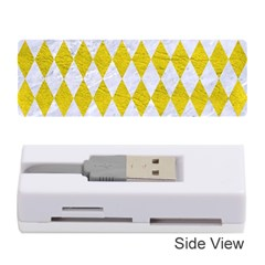 Diamond1 White Marble & Yellow Leather Memory Card Reader (stick)  by trendistuff