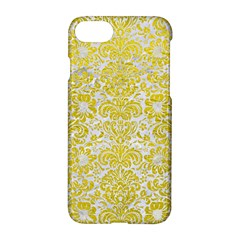 Damask2 White Marble & Yellow Leather (r) Apple Iphone 7 Hardshell Case
