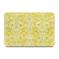 Damask2 White Marble & Yellow Leather Plate Mats by trendistuff