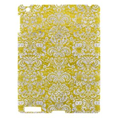 Damask2 White Marble & Yellow Leather Apple Ipad 3/4 Hardshell Case by trendistuff