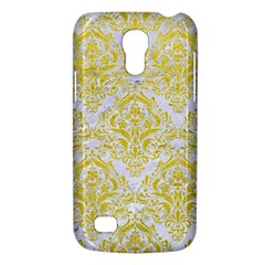 Damask1 White Marble & Yellow Leather (r) Galaxy S4 Mini by trendistuff