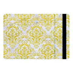 Damask1 White Marble & Yellow Leather (r) Apple Ipad Pro 10 5   Flip Case by trendistuff