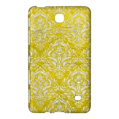 Damask1 White Marble & Yellow Leather Samsung Galaxy Tab 4 (7 ) Hardshell Case  by trendistuff