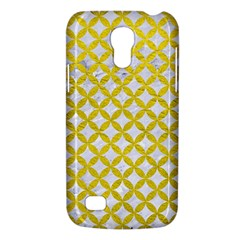 Circles3 White Marble & Yellow Leather (r) Galaxy S4 Mini by trendistuff
