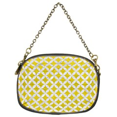 Circles3 White Marble & Yellow Leather Chain Purses (two Sides)  by trendistuff