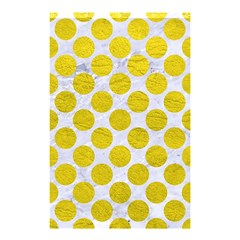 Circles2 White Marble & Yellow Leather (r) Shower Curtain 48  X 72  (small)  by trendistuff