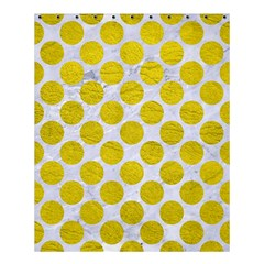 Circles2 White Marble & Yellow Leather (r) Shower Curtain 60  X 72  (medium)  by trendistuff