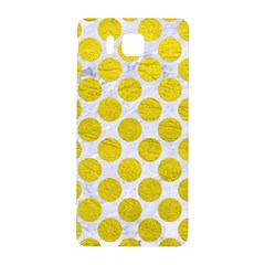 Circles2 White Marble & Yellow Leather (r) Samsung Galaxy Alpha Hardshell Back Case by trendistuff