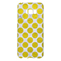 Circles2 White Marble & Yellow Leather (r) Samsung Galaxy S8 Plus Hardshell Case