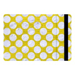 Circles2 White Marble & Yellow Leather Apple Ipad Pro 10 5   Flip Case by trendistuff