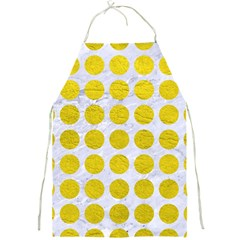 Circles1 White Marble & Yellow Leather (r) Full Print Aprons by trendistuff