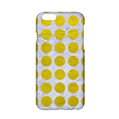 Circles1 White Marble & Yellow Leather (r) Apple Iphone 6/6s Hardshell Case by trendistuff