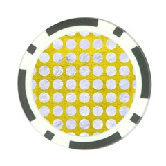 Circles1 White Marble & Yellow Leather Poker Chip Card Guard (10 Pack) by trendistuff