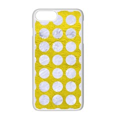 Circles1 White Marble & Yellow Leather Apple Iphone 7 Plus Seamless Case (white) by trendistuff