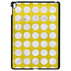 Circles1 White Marble & Yellow Leather Apple Ipad Pro 9 7   Black Seamless Case by trendistuff