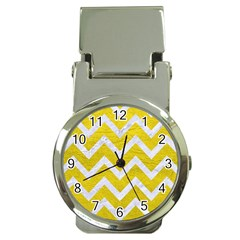 Chevron9 White Marble & Yellow Leather Money Clip Watches by trendistuff