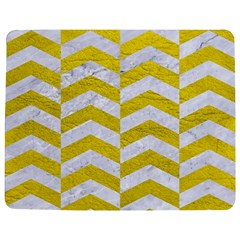 Chevron2 White Marble & Yellow Leatherchevron2 White Marble & Yellow Leather Jigsaw Puzzle Photo Stand (rectangular) by trendistuff