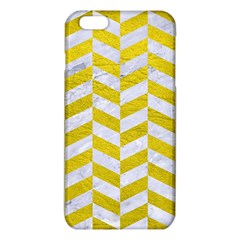 Chevron1 White Marble & Yellow Leather Iphone 6 Plus/6s Plus Tpu Case by trendistuff