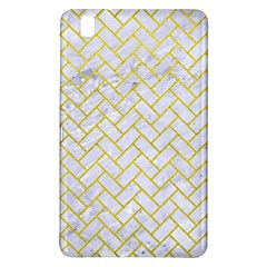 Brick2 White Marble & Yellow Leather (r) Samsung Galaxy Tab Pro 8 4 Hardshell Case by trendistuff