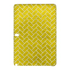Brick2 White Marble & Yellow Leather Samsung Galaxy Tab Pro 12 2 Hardshell Case by trendistuff