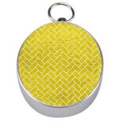 Brick2 White Marble & Yellow Leather Silver Compasses by trendistuff