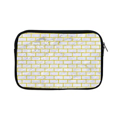 Brick1 White Marble & Yellow Leather (r) Apple Ipad Mini Zipper Cases by trendistuff
