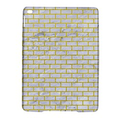Brick1 White Marble & Yellow Leather (r) Ipad Air 2 Hardshell Cases by trendistuff