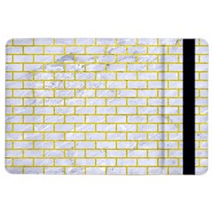 Brick1 White Marble & Yellow Leather (r) Ipad Air 2 Flip by trendistuff